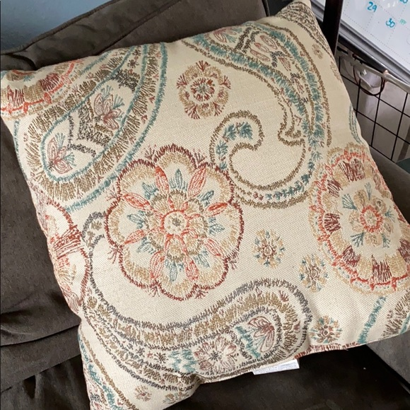 Other - Paisley and floral throw pillow 20x20 multi color